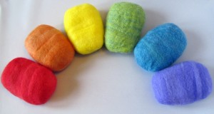 The Twisted Purl Rainbow of Felted Soap