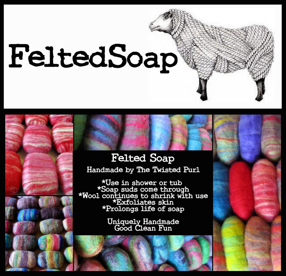 Felted Soaps by The Twisted Purl Felted Soap