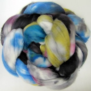 Hand Painted Fiber turned directly into Handspun Yarn