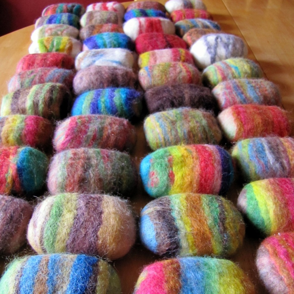 Lots and Lots and LOTS MORE Felted Soap