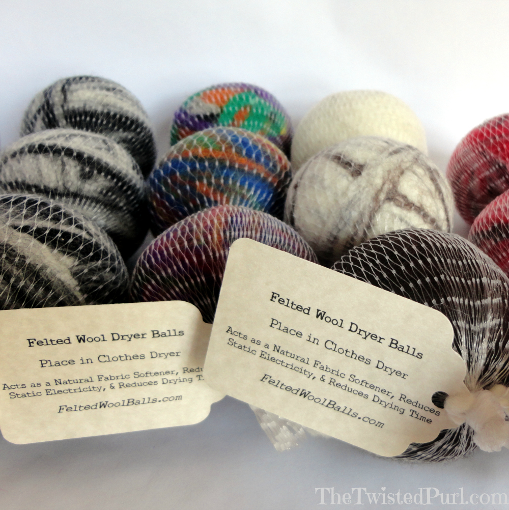 Knitting Pattern For Wool Dryer Balls : Felted Wool Dryer Balls - Twisted Purl