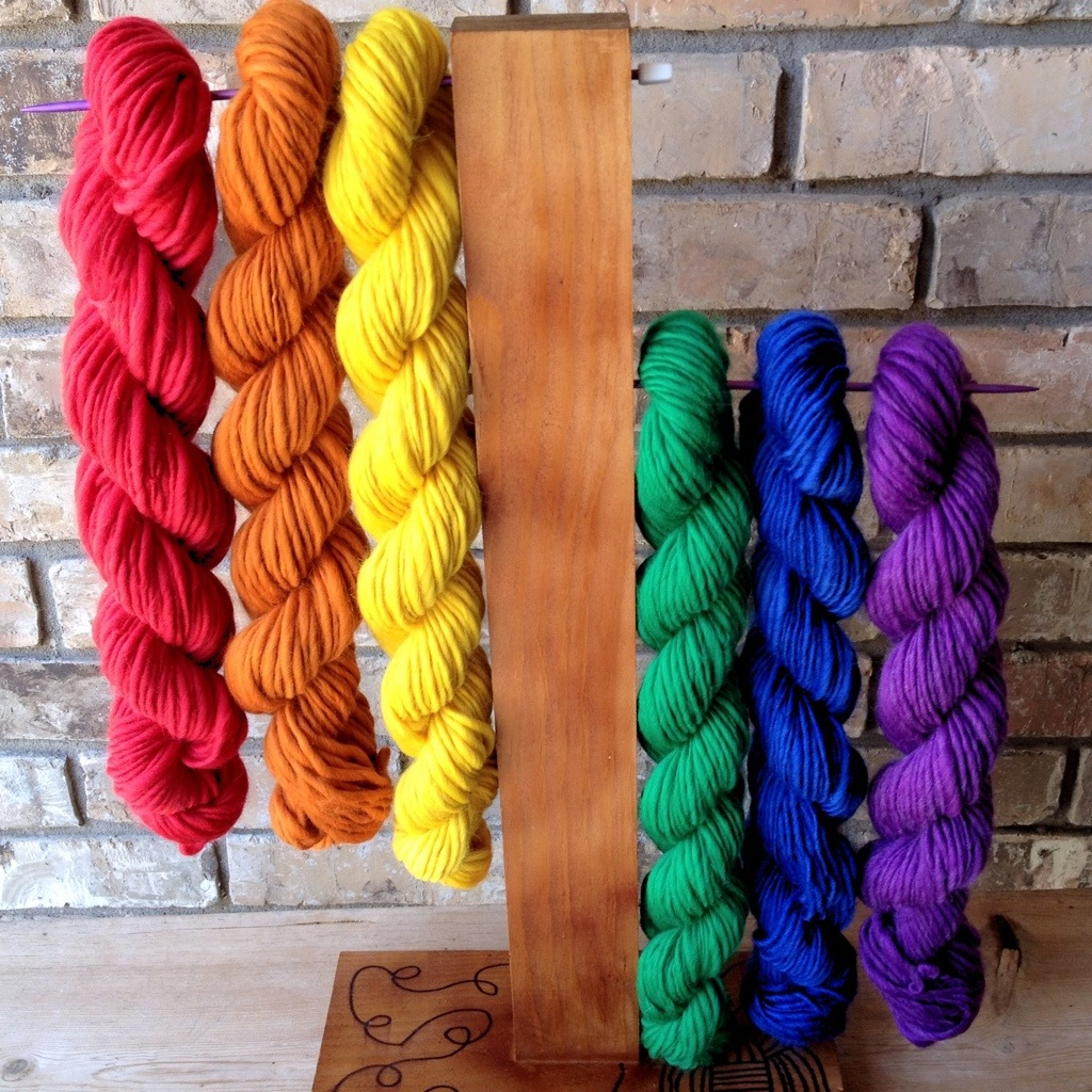 Rainbow Single Ply Skeins