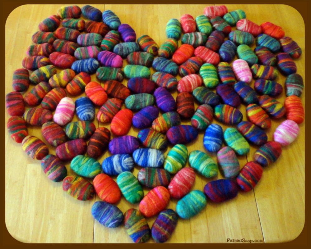 Heart Felted Soap