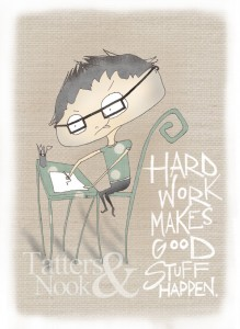 Hard Work by TattersandNook on Etsy