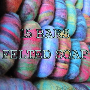 Baby Shower Felted Soap 15 Bars