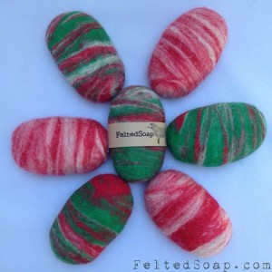 Christmas Felted Soap