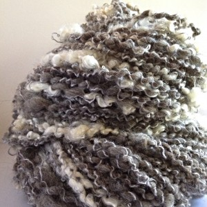 Handspun Alpaca with added bling