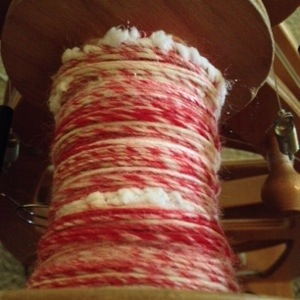 Handspun Yarn on the Bobbin Christmas Peppermint Candycane