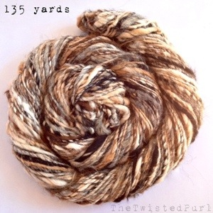 135 yards of all natural alpaca spun for Spinzilla