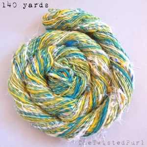 140 Yards of Handspun Yarn created for Spinzilla