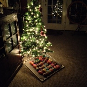 Christmas Tree with Felted Soap