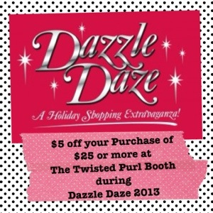Dazzle Daze 2013 Coupon for The Twisted Purl Booth