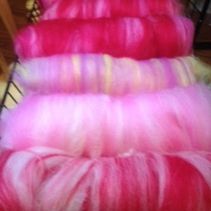 Pink Carded batts