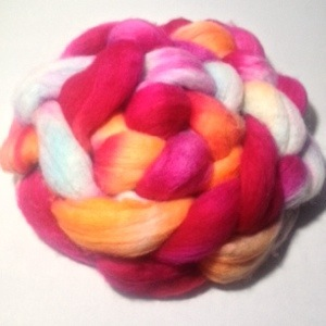 Hand Painted Roving by Zoe