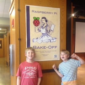 Boys at Raspberry Pi Bake-Off