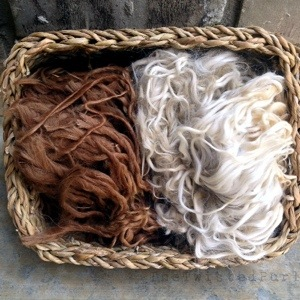 Basket of Suri Alpaca