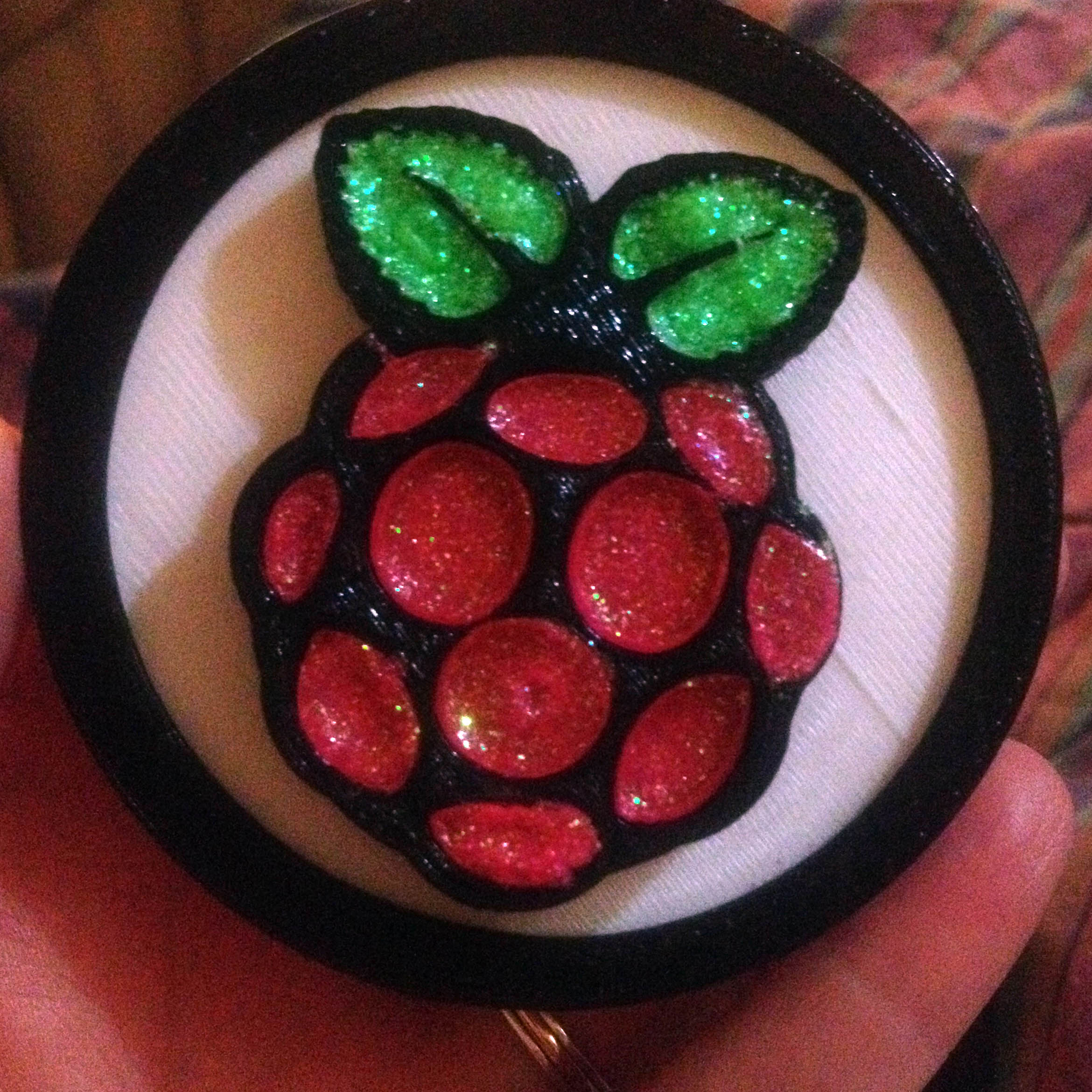 First place medal for winning the Raspberry Pi Bake Off competition at Hendrix College.