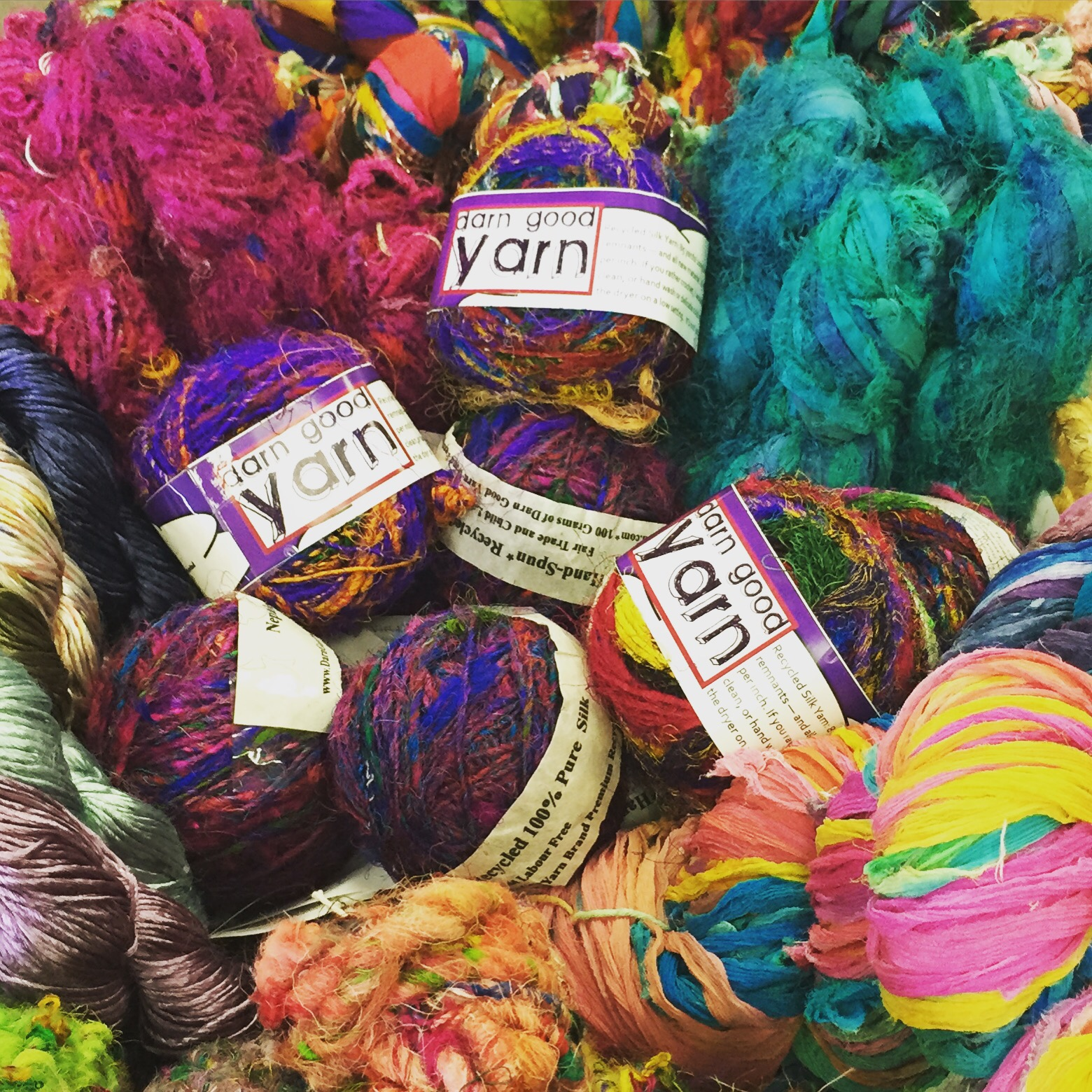 Darn Good Yarn at Twisted Purl's Yarn shop