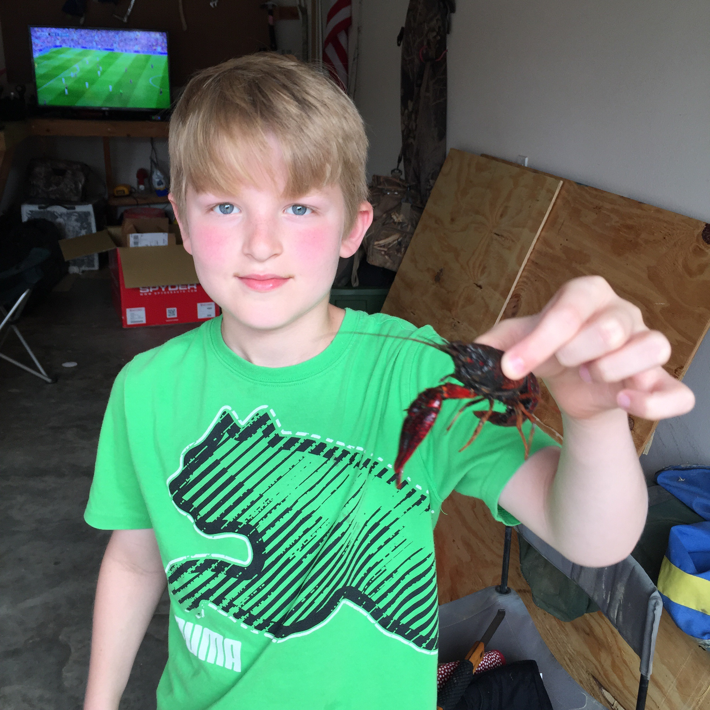 Brady with Crawfish