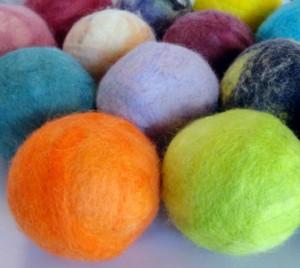 Felted Wool Balls