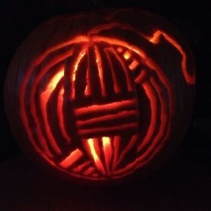Pumpkin Carved Yarn Ball