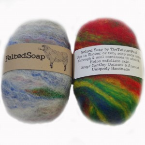 Felted Soap Labels Front and Back