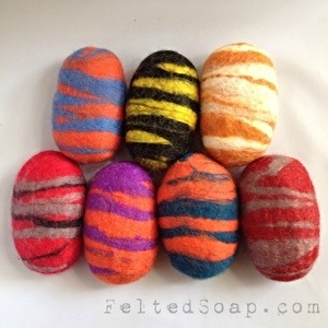 College Color Felted Soap