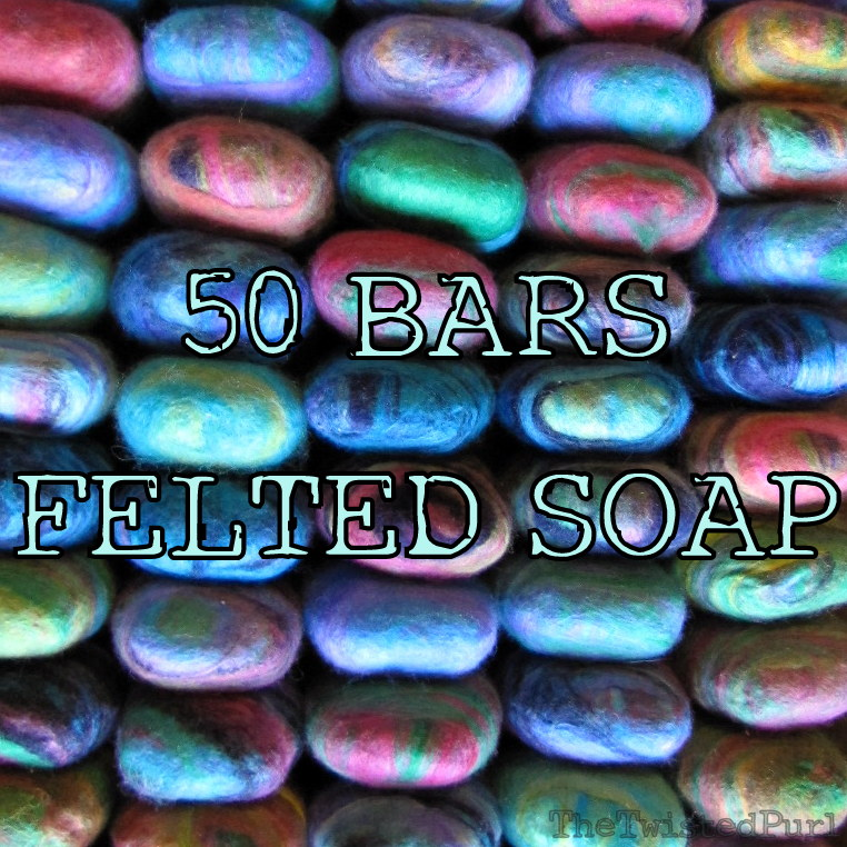 Baby Shower Felted Soap 50 Bars