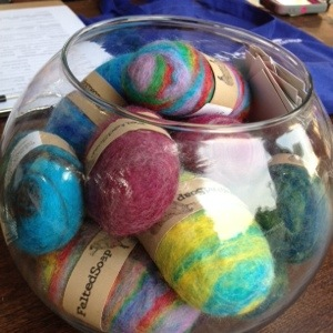 Bowl Felted Soaps by The Twisted Purl