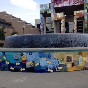 Fountain Fest Arkansas Art Center Yarn Bomb