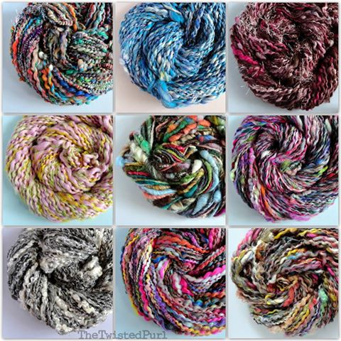 9 Skeins of Handspun Yarn