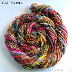 Rainbow Yarn made by The Twisted Purl