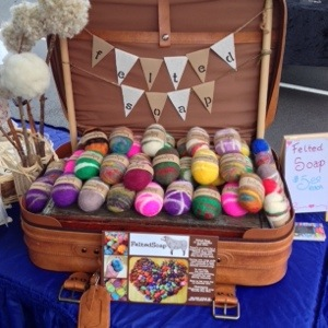 Felted Soap Display
