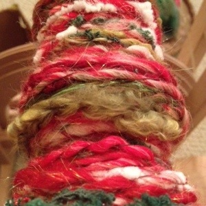 Yarn on Spinning Wheel