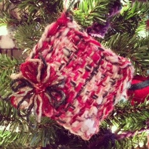 Ornament made with Handspun Yarn for Dazzle Daze 2013