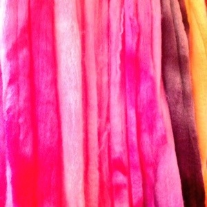 Pink Wool Drying