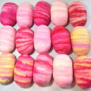 Pink Spring Felted Soaps