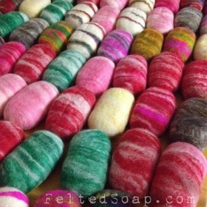 Felted Soaps by The Twisted Purl