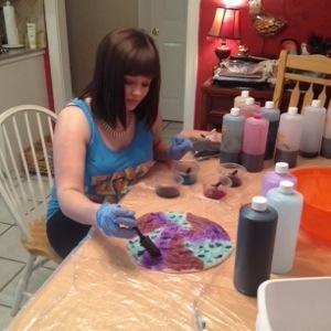 Zoe hand Painting Fiber