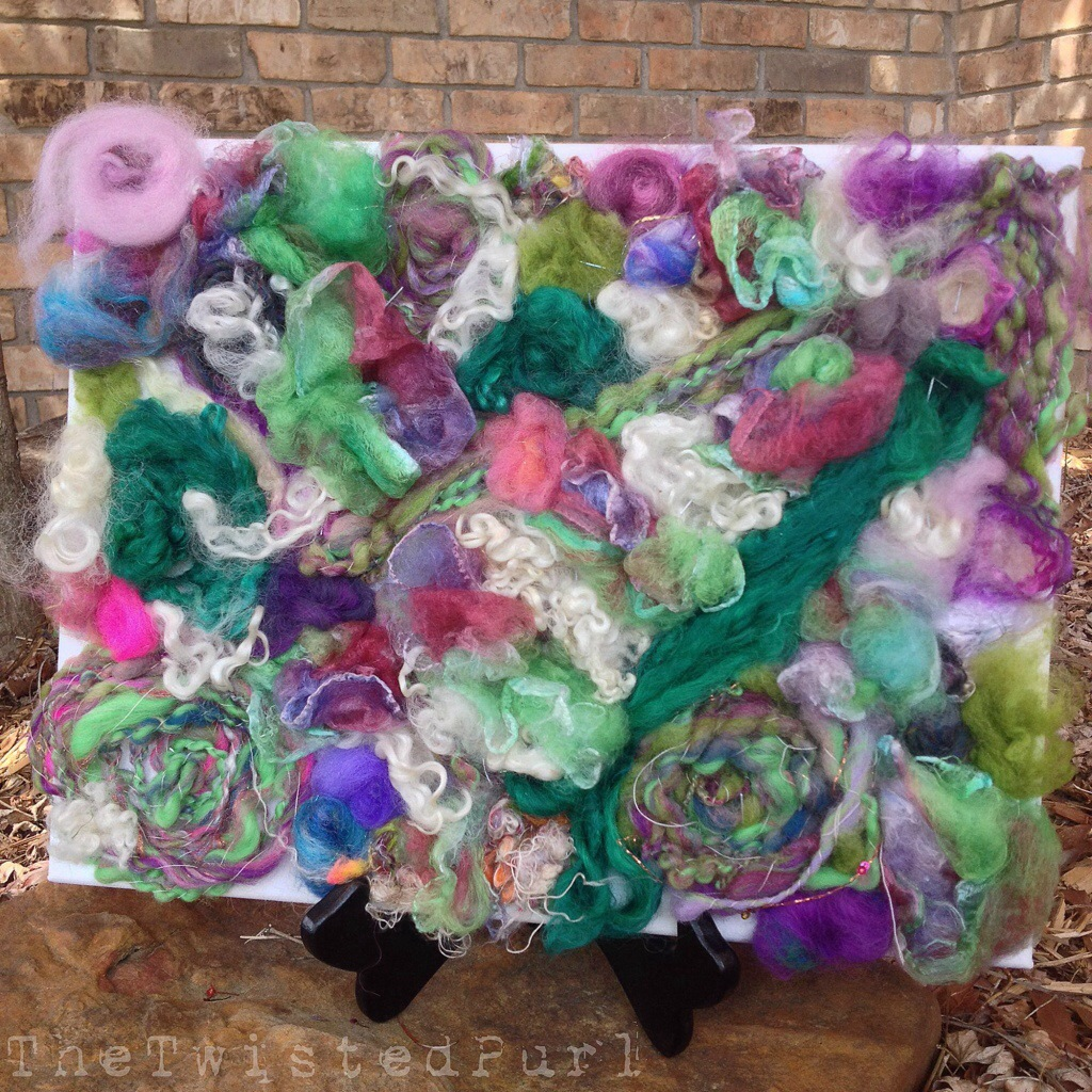 Abstract Fiber Art by The Twisted Purl