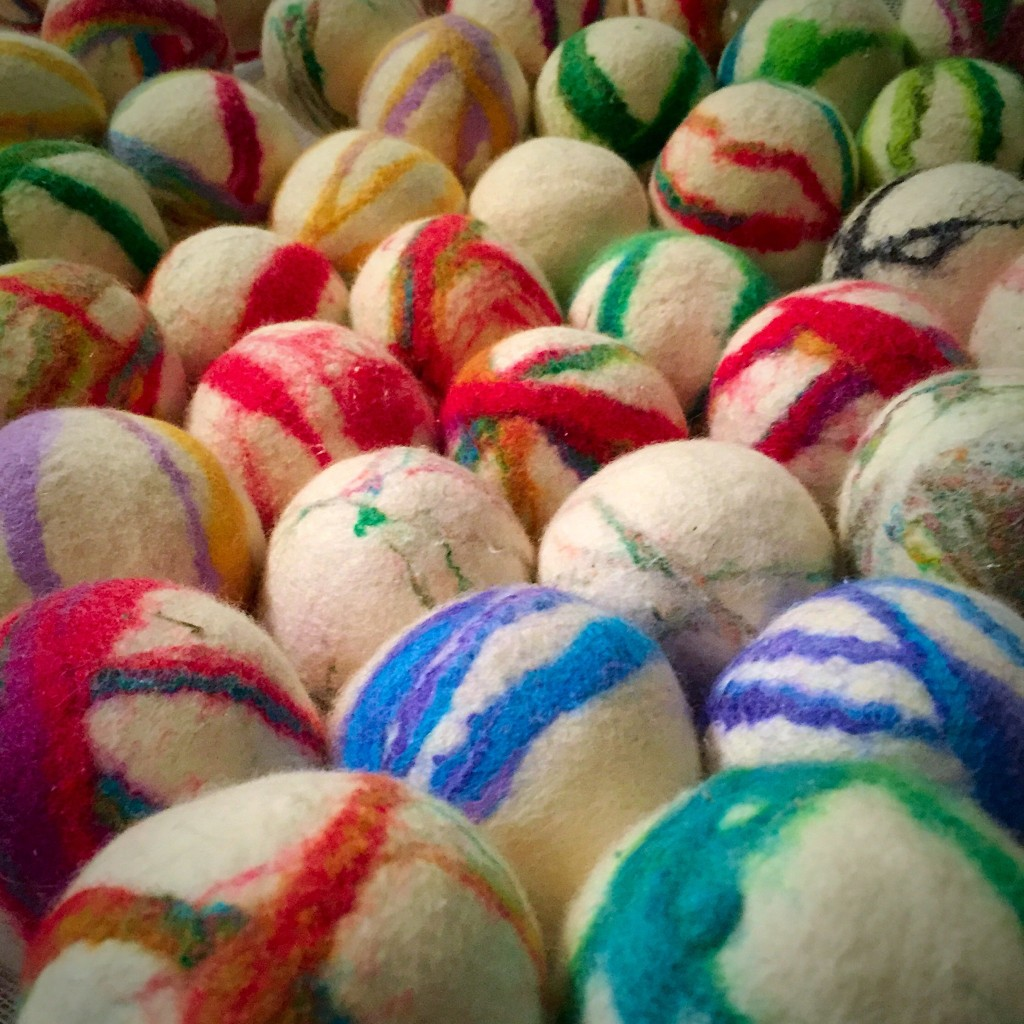 Wool Felted Dryer Balls