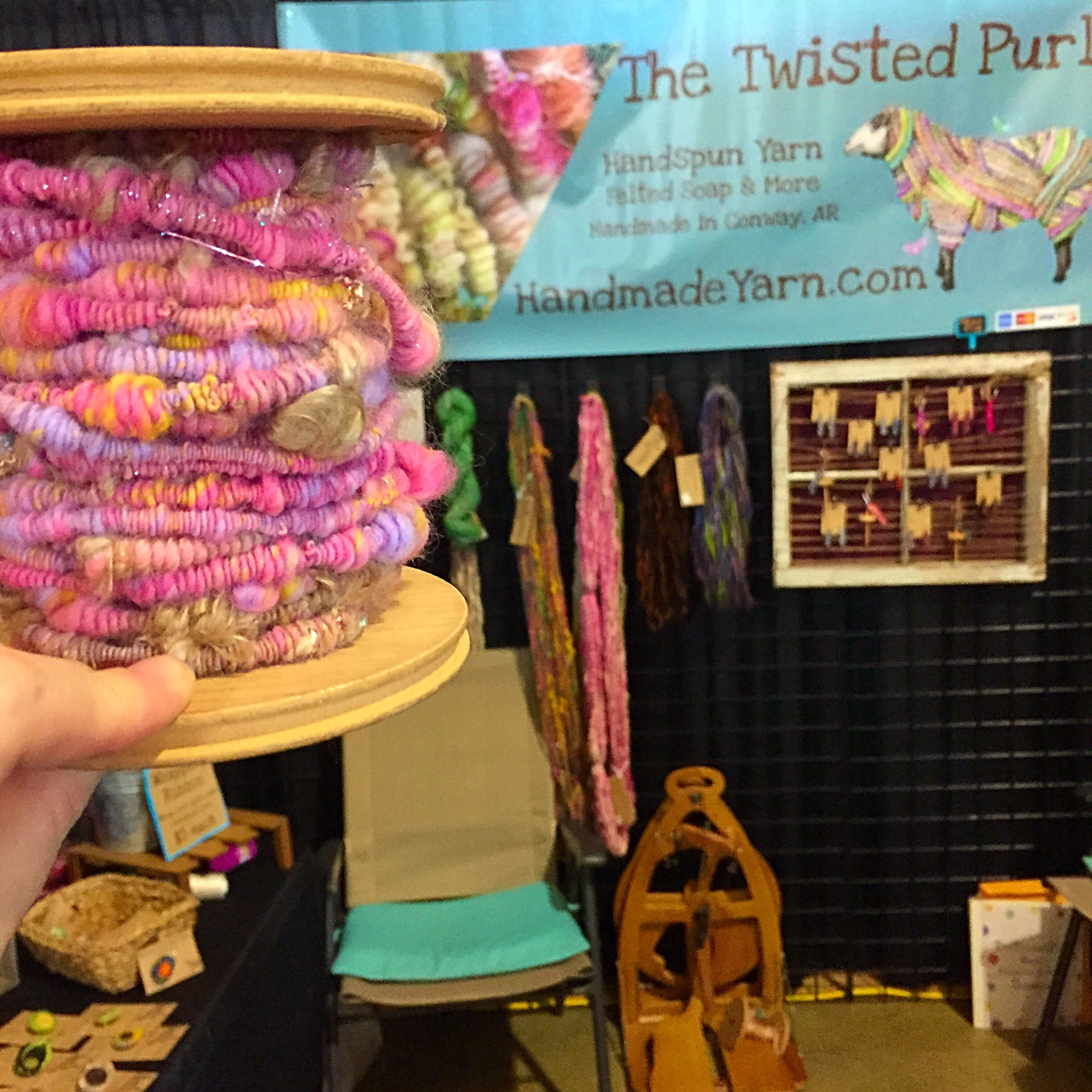 Twisted Purl Coiled Handspun Yarn