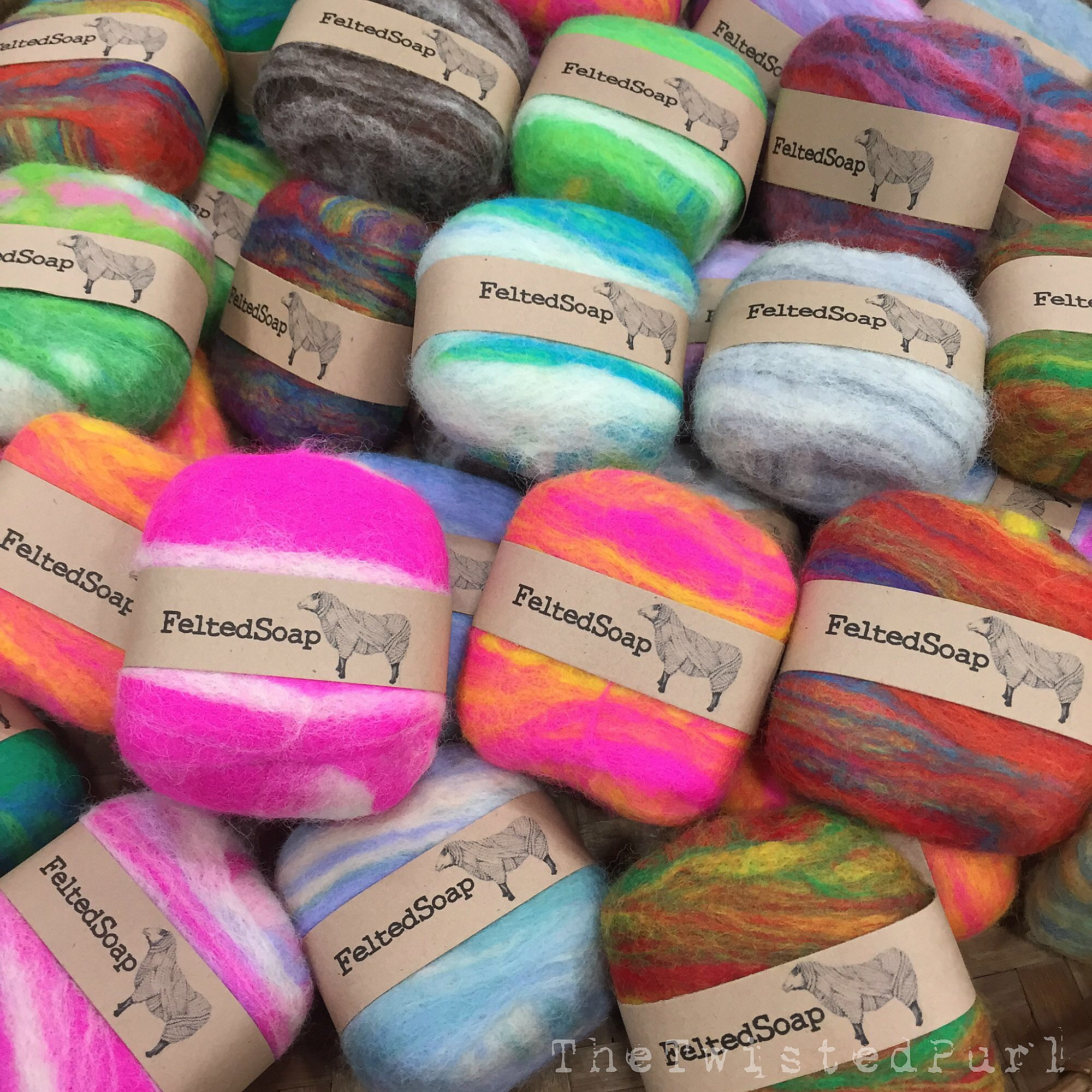 handmade soap felted