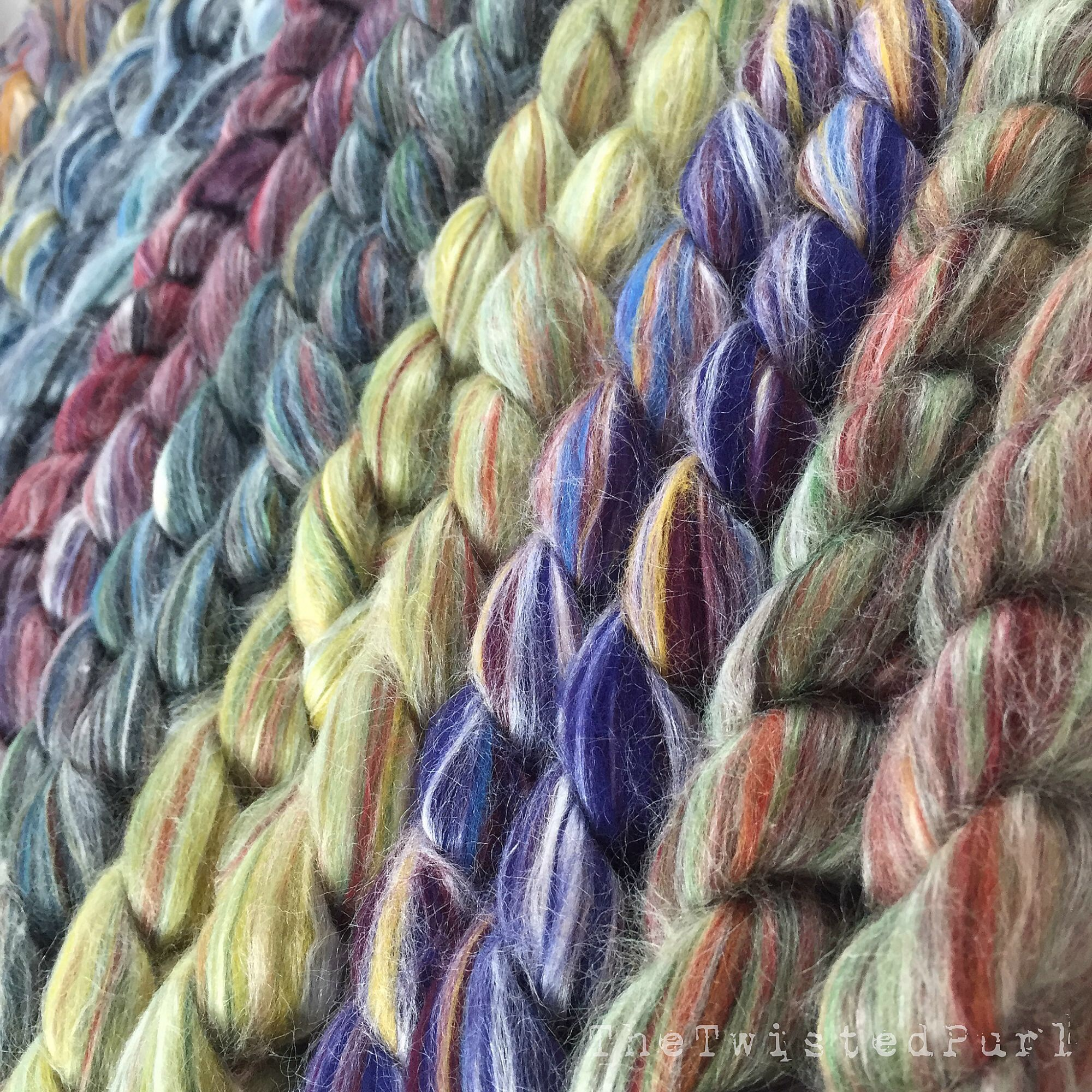 These new Merino Wool and  Silk blends are now available in 4 oz braids in our Etsy Shop.