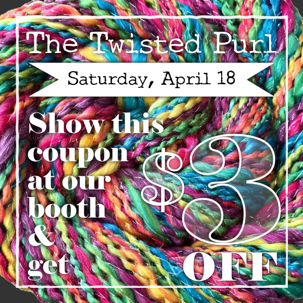 The Twisted Purl $3 off on April 18
