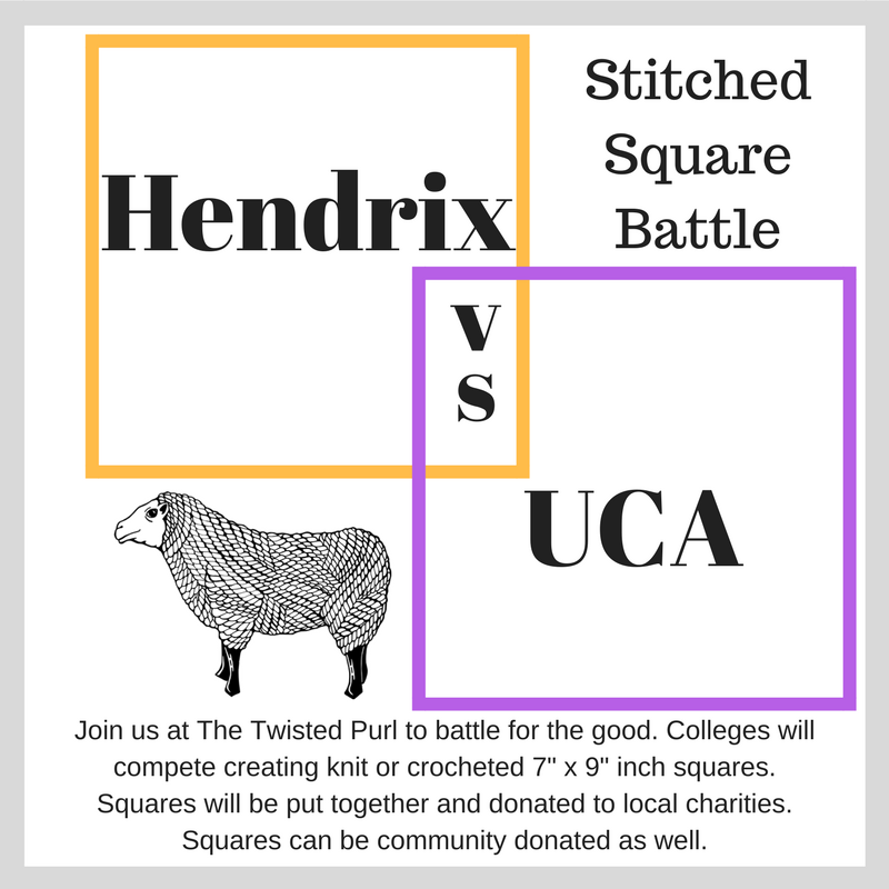 Hendrix vs UCA Stitched Square Battle at The Twisted Purl